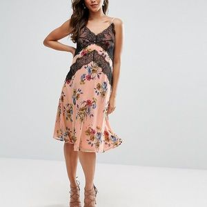 ASOS maternity sleeveless lace floral dress NWOT